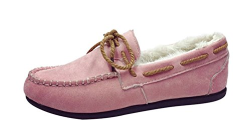 christmas-tmates-womens-winter-warm-faux-fur-lined-flats-suede-moccasin-slip-on-loafer-slippers-driv