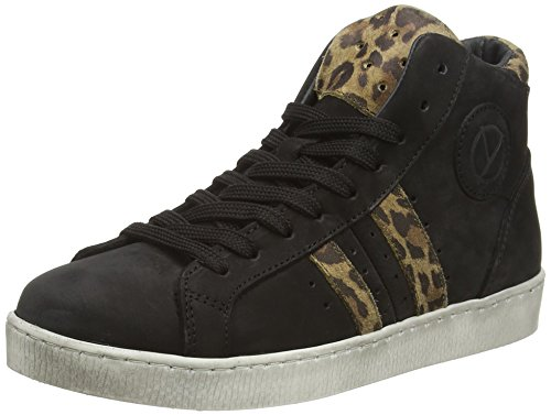 HIP H1046, Low-Top Sneaker Ragazza, Nero (Schwarz (10CO/25PA)), 28