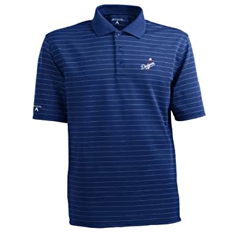MLB Mens Los Angeles Dodgers Elevate Desert Dry Polo by Antigua