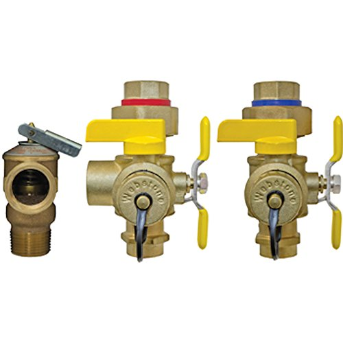 Webstone 50443PR 3/4-Inch SWT Isolator EXP Tankless Water Heater Service Valve Kit (Tankless Hot Water Flush Kit compare prices)