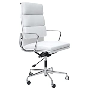 charles eames ea219 soft pad office chair in white leather. Black Bedroom Furniture Sets. Home Design Ideas