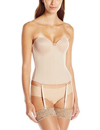 Va Bien Women's Ultra-Lift Low Back Bustier, Nude, 32C (Bridal Bustier)