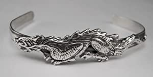 A Very Detailed Dragon on a Cuff Bracelet...Why Be Ordinary? ...Made in America