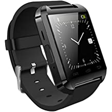 Nokia 808 PureView Compatible Bluetooth Smartwatch (Black) With Supporting Apps Like Twitter, Whats App, Pedometer by JIYANSHI