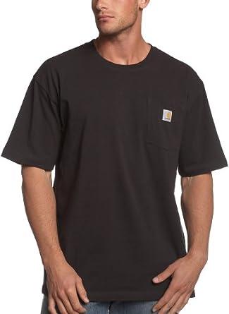 Carhartt Men's Workwear Pocket T-Shirt K87,  Black,  Small Regular