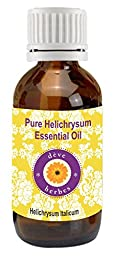 Pure Helichrysum Essential Oil 2ml (Helichrysum Italicum) 100% Pure & Natural by Deve Herbes