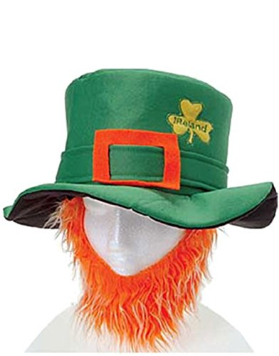 St Patricks Day Costume Leprechaun Hat And Orange Beard