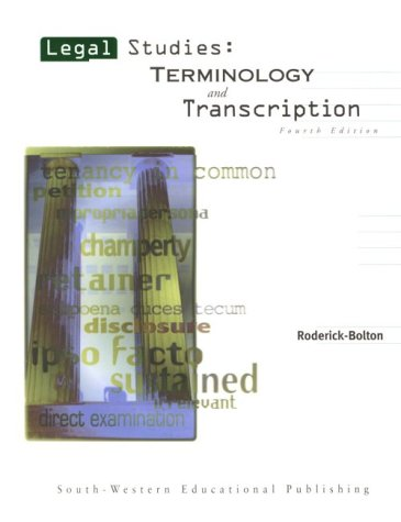 Legal Studies: Terminology and Transcription
