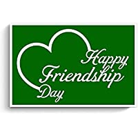 PosterGuy Posters (8X12 Inch) - Lovely Friendship Day With Green Background | Designed By: Codeburnerz Technologies