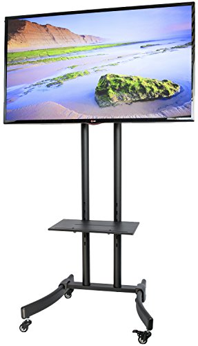 VIVO TV Cart for LCD LED Plasma Flat Panel Mobile Stand w/ Tray fits 32