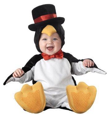 Incharacter Unisex-Baby Newborn Penguin Costume, Black/White/Yellow, Small