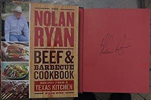Nolan Ryan signed Book Beef & Barbecue Cookbook Baseball Legend 1st Printing -... by Sports Memorabilia