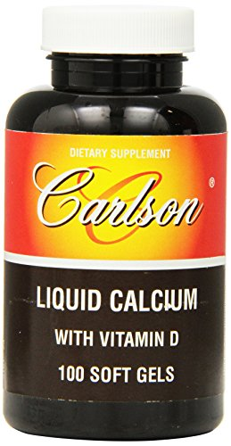 Carlson Labs Liquid Calcium With Vitamin D, 100 Softgels
