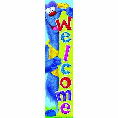 Trend Enterprises Furry Friends Welcome Quotable Expressions Banner, Durable, 5 L ft