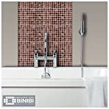 Binibi Brown Glass Mosaic Tiles Bathrooms Kitchens Wall Floor Free P&P On Samples 4M209