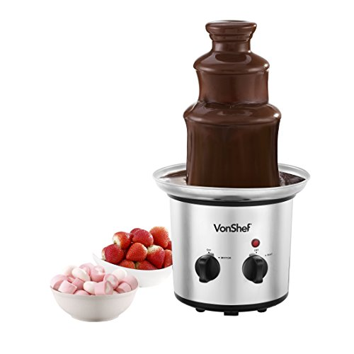 Great Features Of VonShef Premium Luxury Chocolate Fountain, Warmer, Fondue with built in Chocolate ...