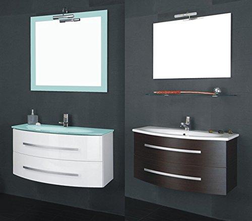 Mobile Arredo Bagno 90cm sospeso lavabo in mineralmarmo moderno in 20 colori anche bianco Mobili