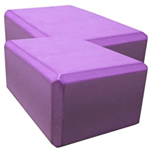 2 Pack 4 inches x 9 inches x 6 inches Purple Yoga Blocks – Saver Pack