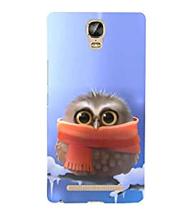 Cute Baby Owl 3D Hard Polycarbonate Designer Back Case Cover for Gionee Marathon M5 Plus