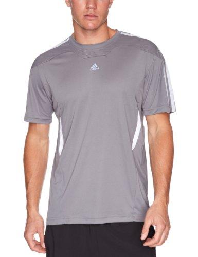 Adidas 365Q Plain Men's T-Shirt Mediulead/Wh XX-Large
