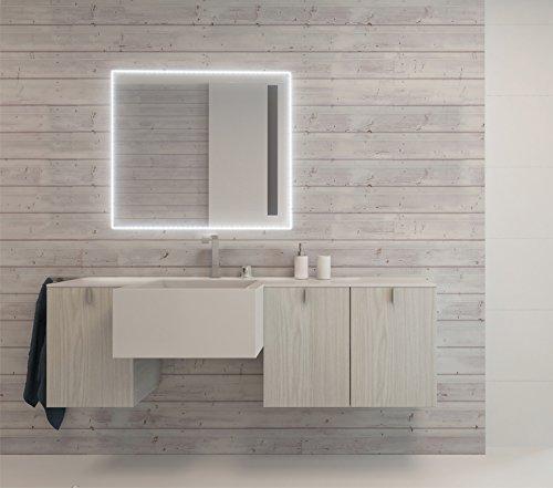 Specchio bagno con luce a led perimetrale interna e - Specchio da bagno con luce a led ...