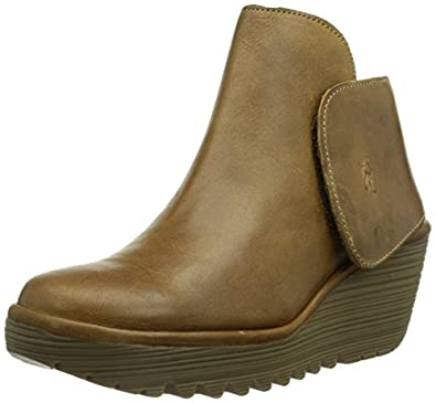 Fly London Yogi, Boots femme - Marron (Camel 050), 35 EU