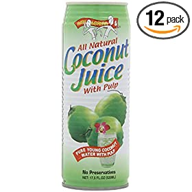Amy & Brian Natural Coconut Juice, 17.5 Ounce Tins (Pack of 12)