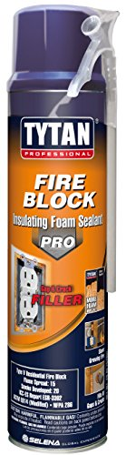 TYTAN Professional 05953 Orange Fire Block Insulating Foam Sealant, 20 oz. Straw Aerosol Can (Pack of 12) (Foam Block Insulation compare prices)