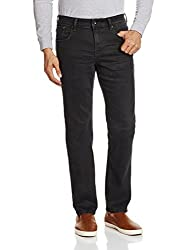 Nautica Mens Regular Fit Jeans (8907163941985_NTSS9120TB_32W x 35L_Black)