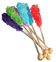 Assorted Rock Candy on Stick, 10 Count