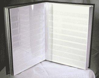 Lighthouse 32-White Page Stamp Stockbook LZW4/16 Green