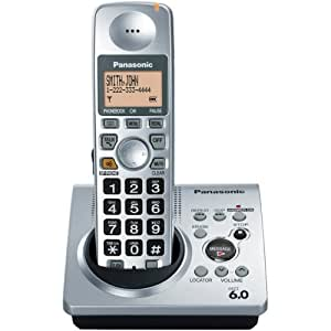 Amazon.com : Panasonic Dect 6.0 Silver Cordless Phone with ...