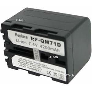 Otech C041HA Batterie pour Caméscope de type Sony NP-QM71D