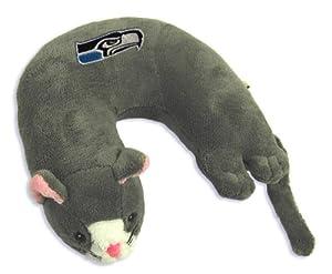 NFL Seattle Seahawks Grey Cat Critter Travel Neck Pillow