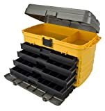 Plano Molding 858 21-Inch Tool Box with Drawers, Graphite Gray with Iron Yellow