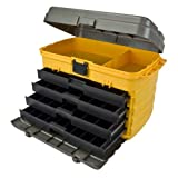 Plano Molding 858 21-Inch Tool Box with Drawers, Graphite Gray with Iron Yellow ~ Plano Molding