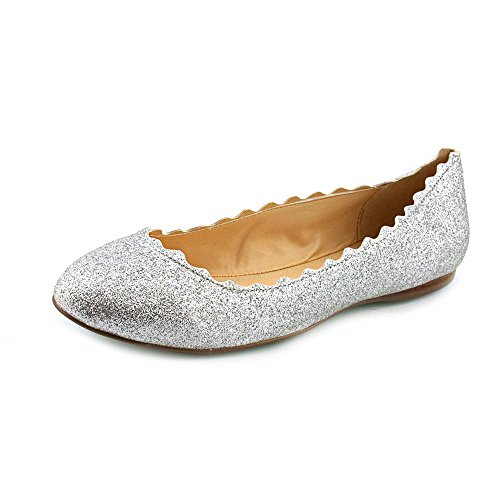 Blue By Betsey Johnson Women'S Dance Flat,Silver Fabric,7.5 M Us front-874408