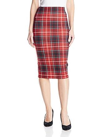 xoxo juniors printed plaid pencil skirt