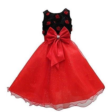 AEL - Robe Fleur Rose Rouge pour Bébé Fillette Demoiselle d\u0026#39;Honneur  Mariage - - fghjkkjhgffghjhg