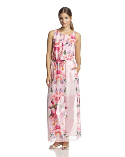 W118 by Walter Baker Women's Alexandra Printed Maxi Dress  [Pastel Lotus]