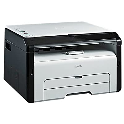 RICOH SP 200S Monochrome Multifunction Laser Printer (Black/White)