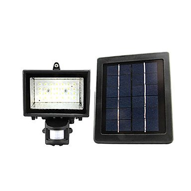 1.68W 28-Light Contemporary Rechargeable Aluminum Led Solar Garden Light