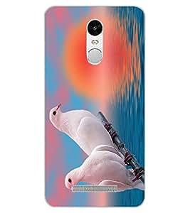 ColourCraft Love Birds Design Back Case Cover for XIAOMI REDMI NOTE 3 PRO
