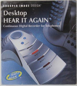 Sharper Image Design Desktop Hear It Again Continuous Digital Recorder For Telephones