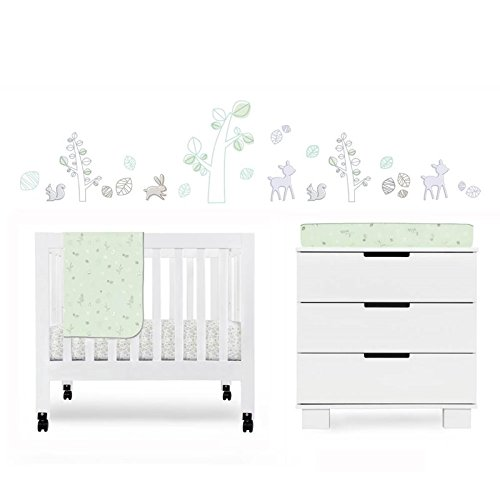 Babyletto Tranquil Woods 4-Piece Mini Crib Set