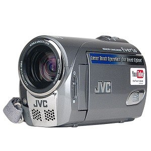 "JVC Everio GZ-MS100U 35x Optical/800x Digital Zoom SDHC Camcorder w/2.7"" LCD & Laser Touch Operation (Silver)"