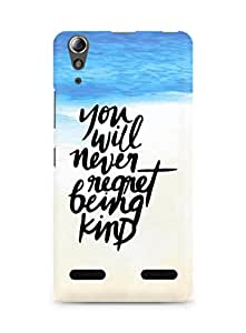 AMEZ you will never regret being kind Back Cover For Lenovo A6000