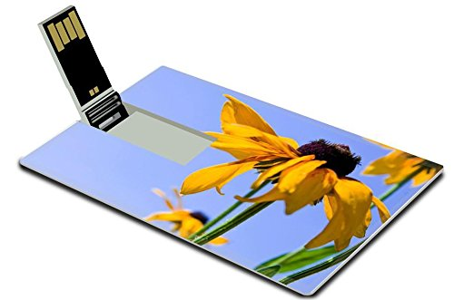 luxlady-16gb-usb-flash-drive-20-memory-stick-credit-card-size-blooming-yellow-flowers-rudbeckia-gree