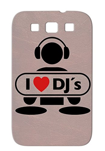 Love Dj F2 Red Tearproof Mic Freestyle Music Hip Hop Vinyl Record Breakdance Music Note Talent Beat Mc Old School Party Heart Battle Disco Scratching Dj Miscellaneous Graffiti Rap Vinyls Headphones Case Cover For Sumsang Galaxy S3