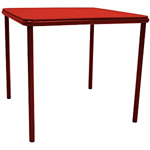 Kids Vinyl Top Juvenile Table with Screw in Legs Color: Red